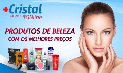 Produtos de beleza na Drogaria Cristal Online