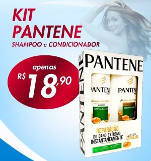 Kit Pantene shampoo e condicionador