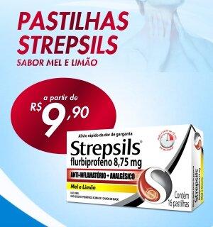 Pastilhas strepsils gripe e resfriado